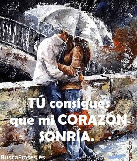 Cartel de dos enamorados bajo la lluvia