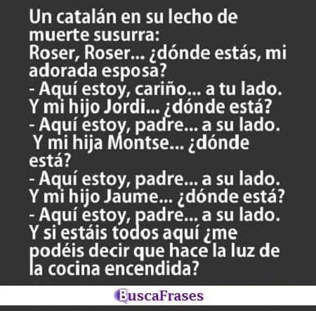 Chistes de catalanes agarrados