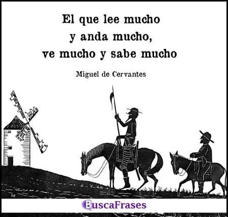 Citas de Cervantes sobre la lectura y los viajes