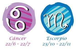 Compatibilidad cáncer y escorpio