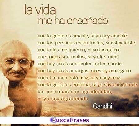 Enseñanzas de vida de Mahatma Gandhi