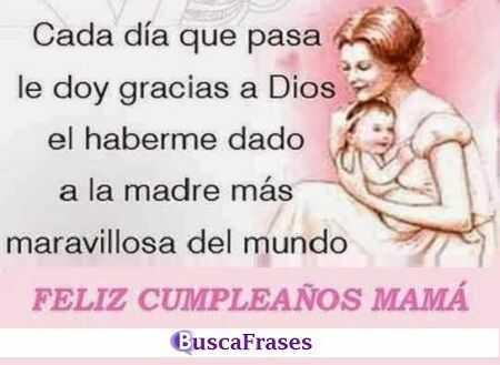 Felicitaciones de cumpleaños para una madre