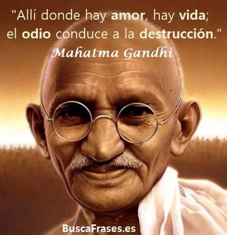 Frases de Mahatma Gandhi del amor en la vida