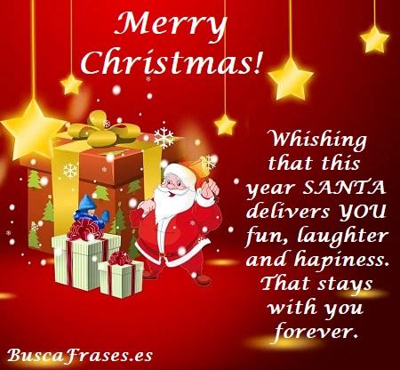 Frase de Navidad en inglés