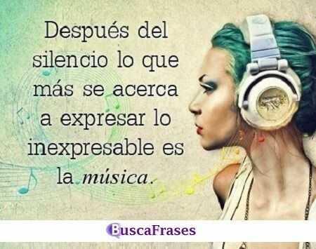 Frases bonitas sobre la música