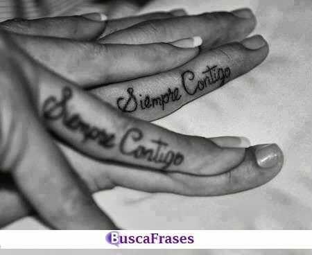 Frases de amor para tatuajes en pareja