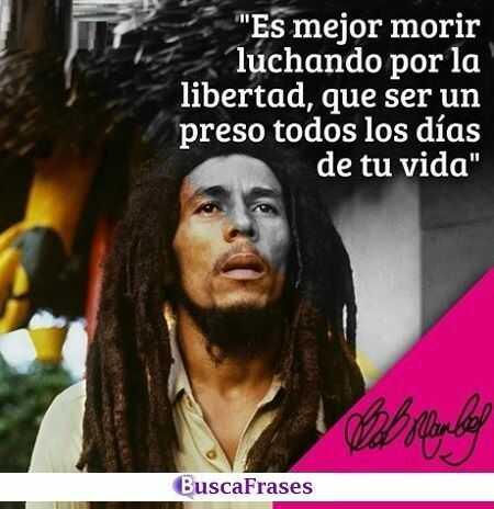 Frases de Bob Marley sobre la libertad