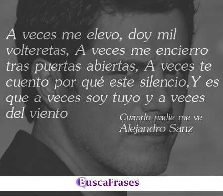 Frases de canciones románticas de Alejandro Sanz