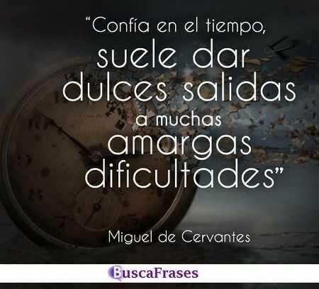 Frases de Cervantes sobre el tiempo