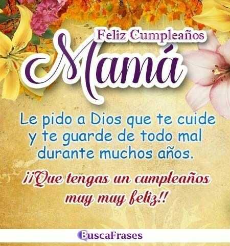 Frases De Cumpleaños Para Madres Buscafraseses