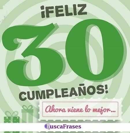 Frases de feliz 30 cumpleaños
