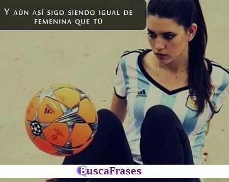 Frases de futbol femenino