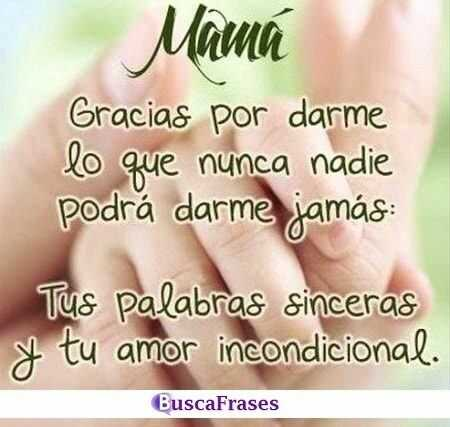 Frases de gratitud para una madre