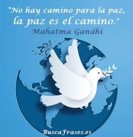 Frases de Mahatma Gandhi sobre la paz