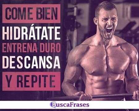 Frases de motivación para entrenar en el gym