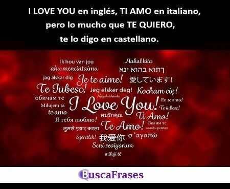 Frases de te quiero mucho