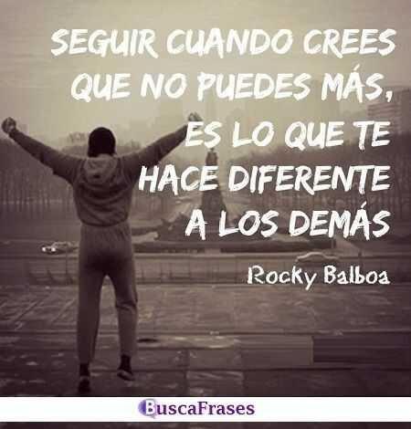 Frases motivadoras de Rocky