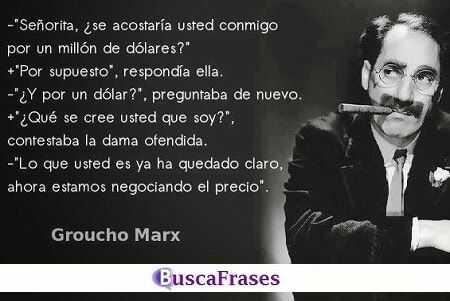 Frases originales de Groucho Marx