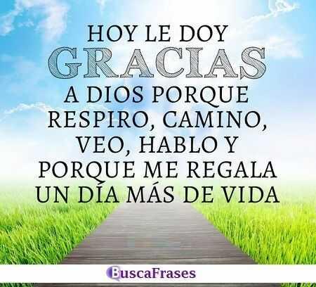 Frases para dar las gracias a Dios por la vida