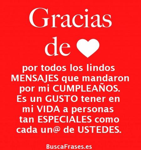 Frases para dar las gracias por las felicitaciones de cumpleaños