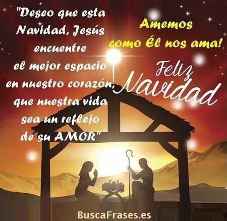 Frases para desear feliz Navidad religiosas