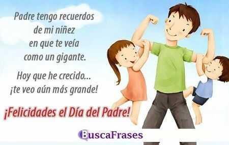 Frases para felicitar el día del padre