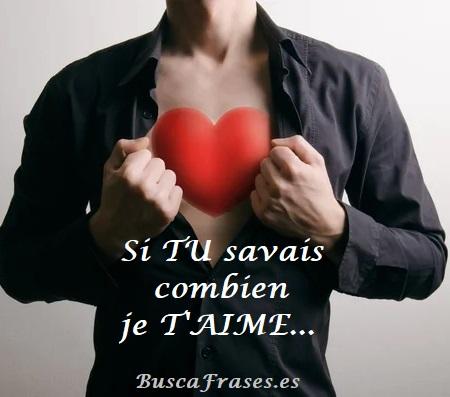 Frases románticas en francés