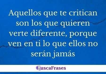 Frases para críticas de la gente