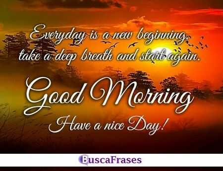 Imágenes con frases lindas de buenos días en inglés