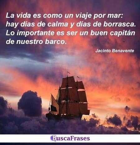 La vida es como un viaje por el mar