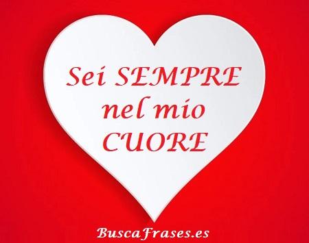 Bonitas palabras de amor en italiano