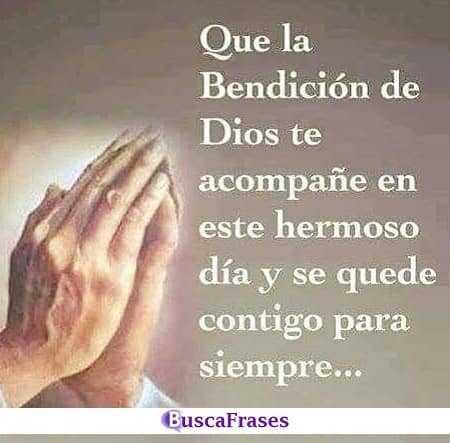 Que la bendición de Dios este contigo hoy y siempre