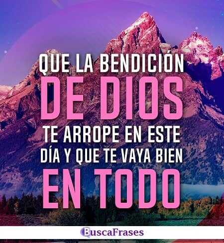 Que la bendición de Dios recaiga hoy sobre ti