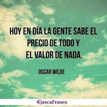 Reflexiones de Oscar Wilde